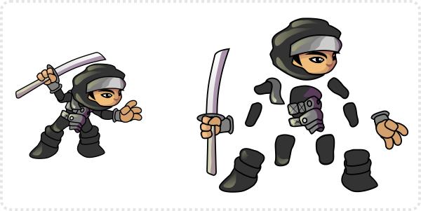 2dgameartguru - creating a game character