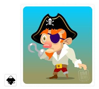 2Dgameartguru character design pirate