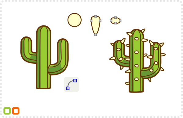 2Dgameartguru - cartoon cactus