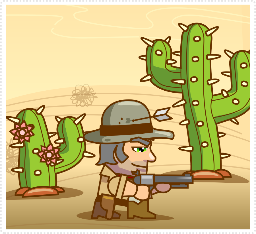 2Dgameartguru - cartoon cactus sample