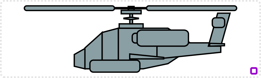 2dgameartguru - creating an apache helicopter