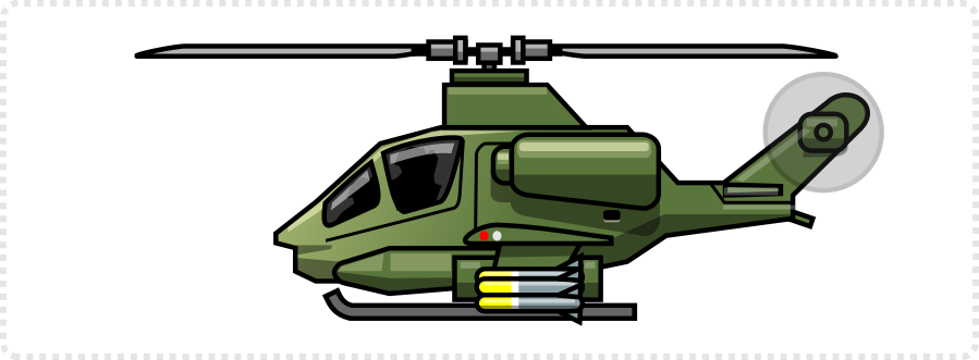 2dgameartguru - modifying the Apache Helicopter