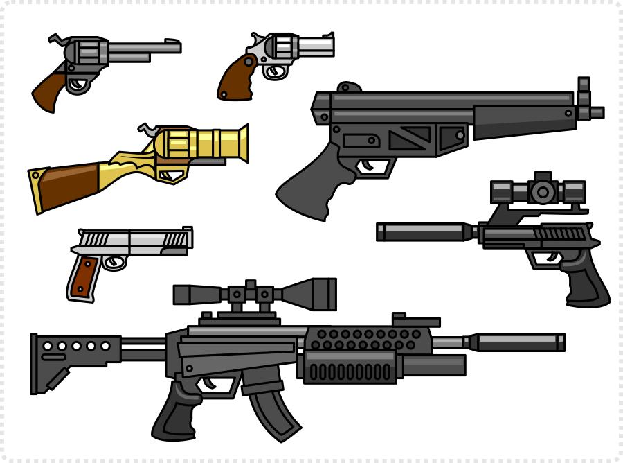 2Dgameartguru - shooting and blastin - making a guns