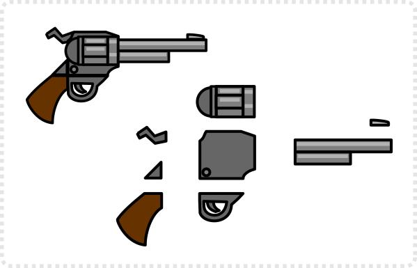2dgameartguru - making a simplified revolver