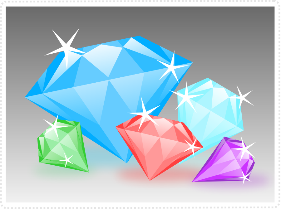 2dgameartguru - creating diamonds