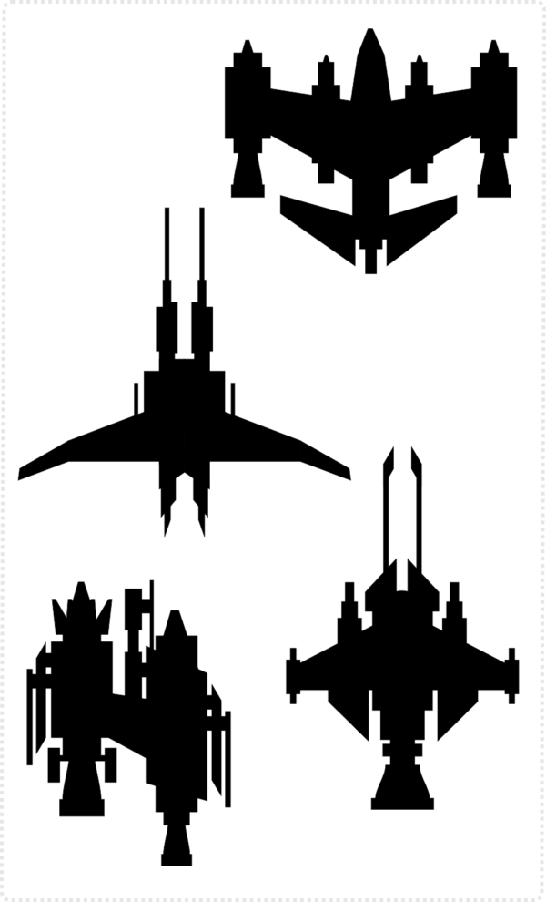 2Dgameartguru spaceship design