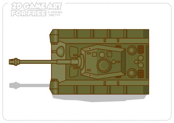 2Dgameartguru FREE game asset top down tank