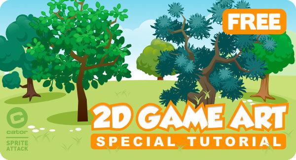 2Dgameartguru - special PDF tutorial - trees