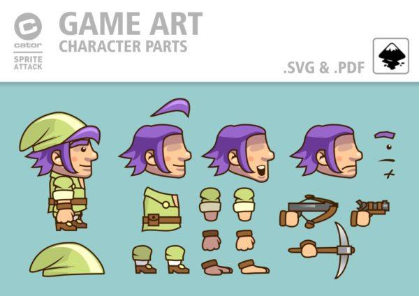 2Dgameartguru green dwarf