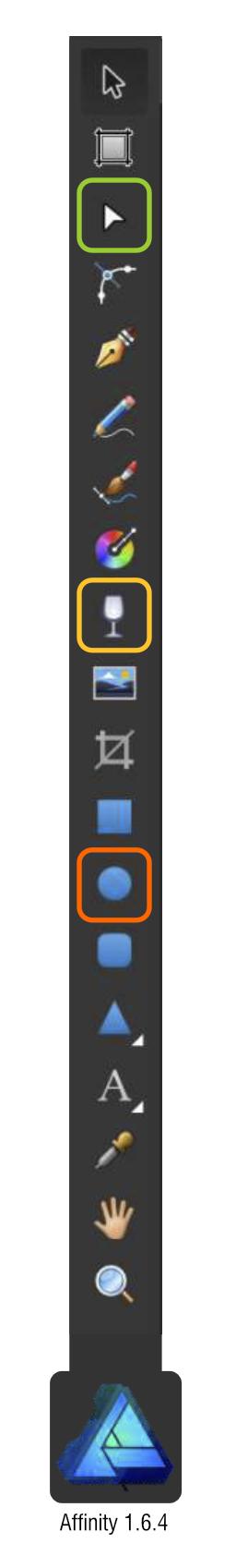 2Dgameartguru affinty toolbar