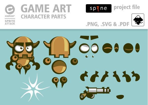 2Dgameartguru animation robot setup