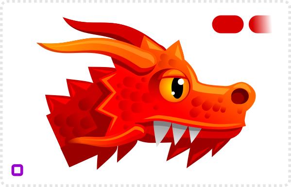 2Dgameartguru bulding a dragon's head