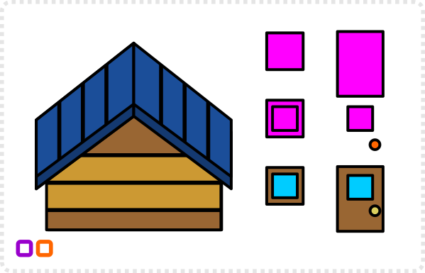 2dgameartguru - simplified building elements front