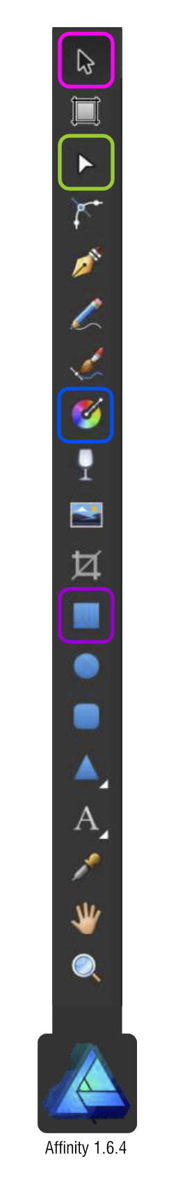 2Dgameartguru Affinity toolbar