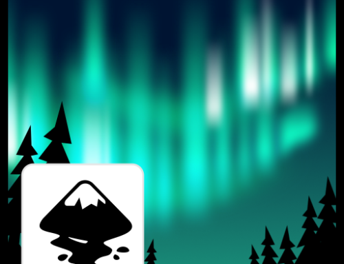Northern Lights – special effect – created easily with blurs in Inkscape