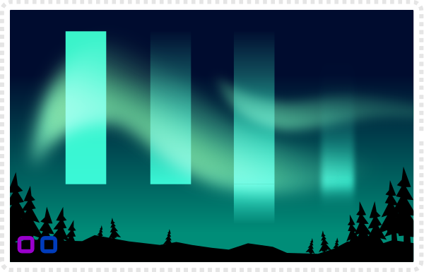 2Dgameartguru Northern light effect