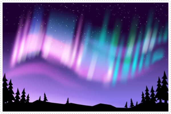 2Dgameartguru Northern lights effect