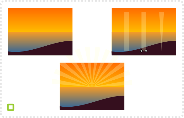 2Dgameartguru sunset scene