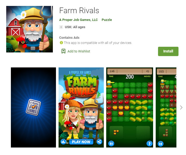 2Dgameartguru - Farm Rivals Puzzle Game