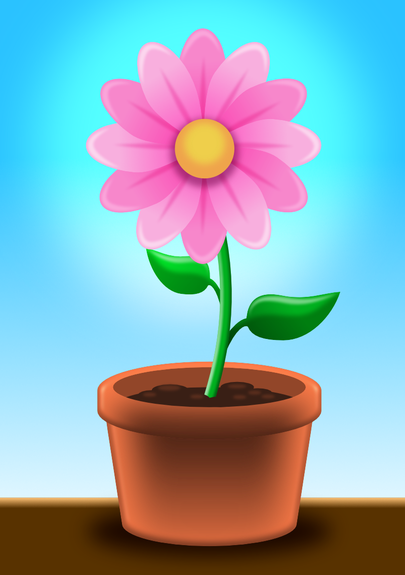 2dgameartguru - creating a flower pot Show