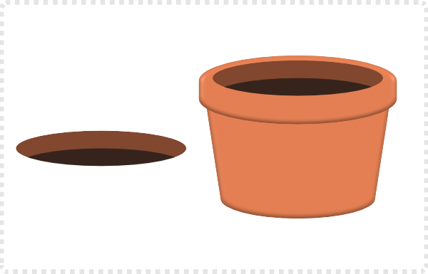 2dgameartguru - creating a flower pot