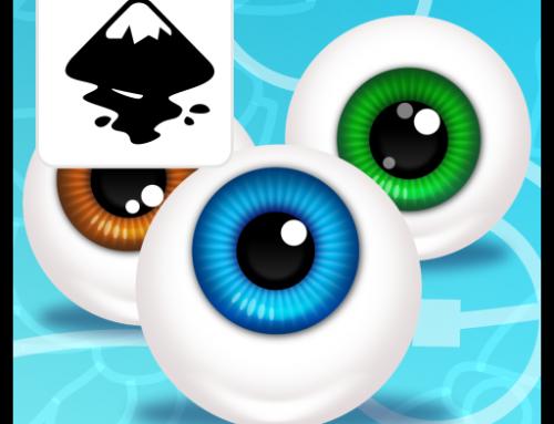 Creating an eyeball Pixar style in Inkscape