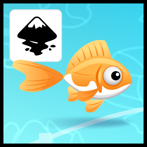 2Dgameartguru - gold fish animation in Inkscape