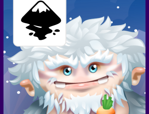 Snow monster Illustration – having fun with Inkscape