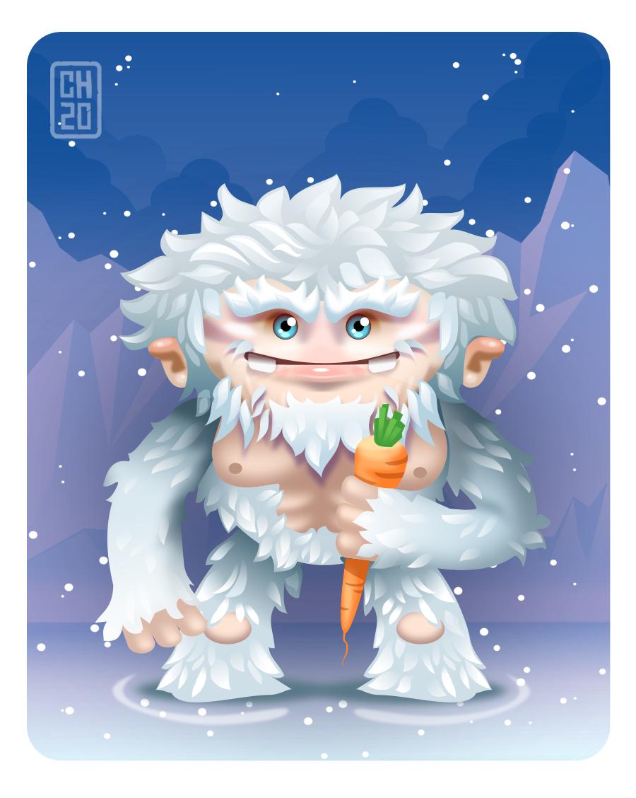 2Dgameartguru - character design snowmonster
