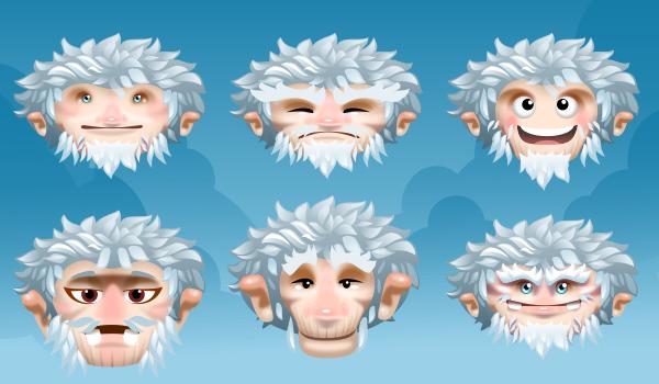 2Dgameartguru - character design snowman