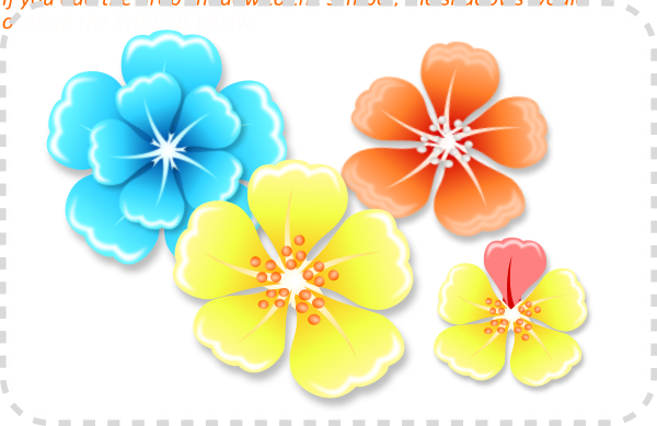 2Dgameartguru - flowers using clones in Inkscape
