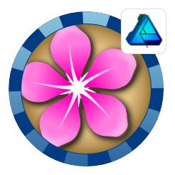2Dgameartguru - flowers using symbols in Affinity