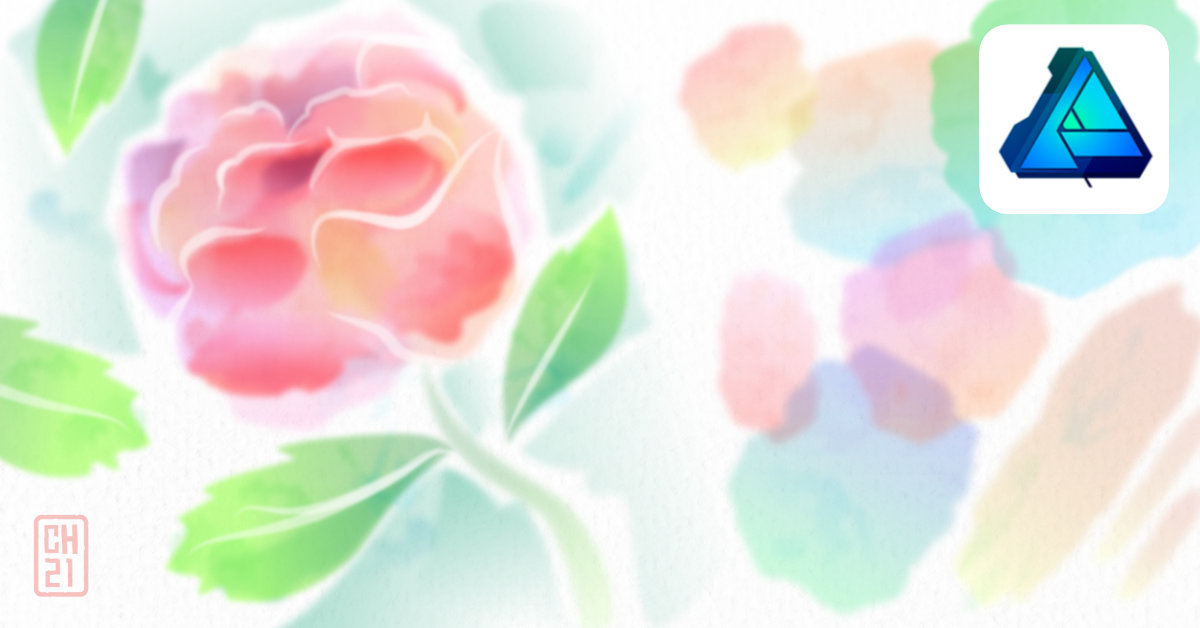 2Dgameartguru - emulating a watercolour effect in Affinity Designer