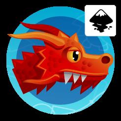 2dgameartguru - dragon's head