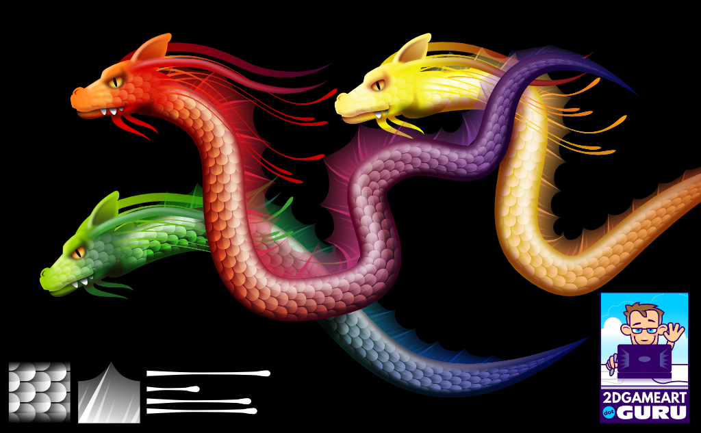 2Dgameartguru - brush patterns in Affinity Designer