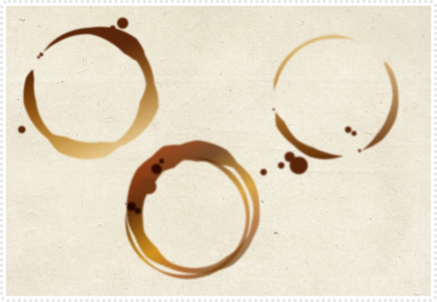 Creating a simple coffee stain in Affinity Designer