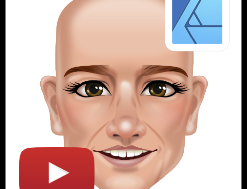 Shading a game character's face in Affinity Designer – video tutorial