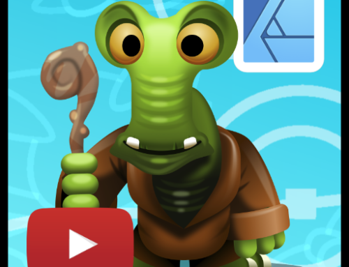Colourful alien character creation in Affinity Designer – video tutorial