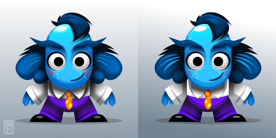 2Dgameartguru - game character concept comparison
