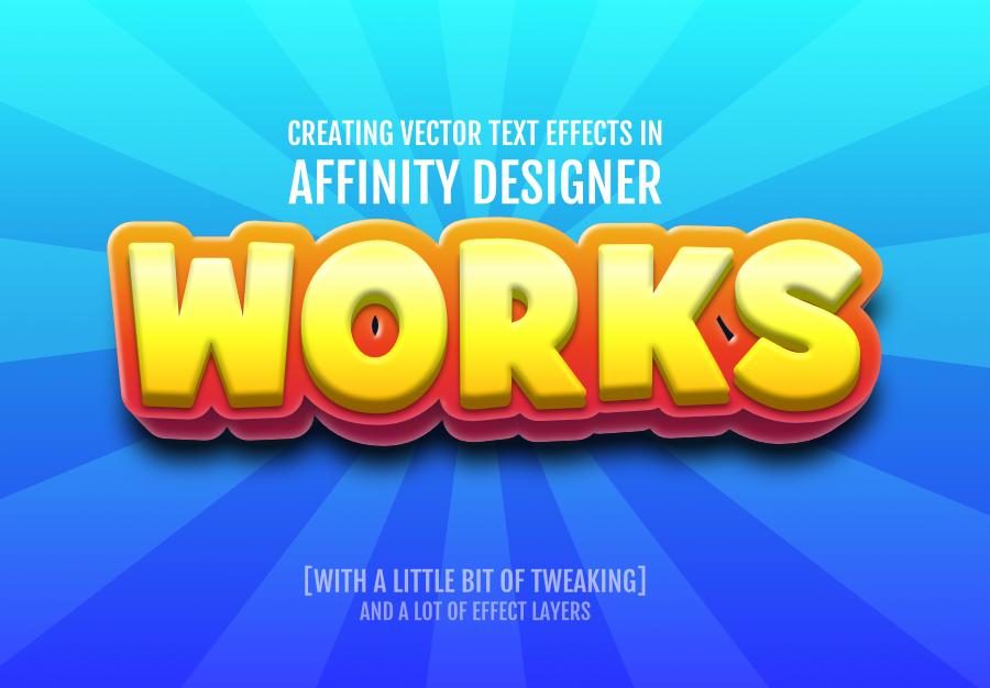 2Dgameartguru - text effects in Affinity Designer