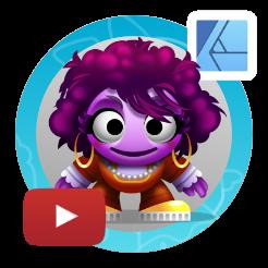 2dgameartguru - cute and colourful character design